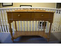 Two Drawer Hall Table