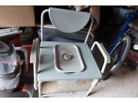 Large disabled commode chair