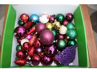 Box of quality Christmas baubles for christmas tree