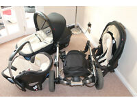 Concord Neo Travel System 3 in 1 - Buggy - Carry Cot - Car Seat (all to fit base) + Accessories