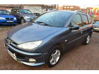 PEUGEOT 206 SW 1.4 HDi Verve 5dr (grey) 2005