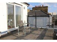 2 bedroom split level flat with outside terrace in Stoke Newington/Hackney N16