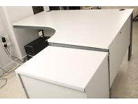 Modern grey l shaped desk