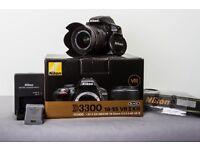 Nikon D3300 with 18-55mm lens