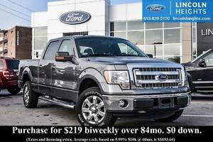 2014 Ford F-150 XTR CREWCAB 4x45.5 BED BOX - TAILGATE LIFT ASSIS