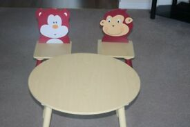 Childrens Activity Table and Two Chairs in immaculate condition