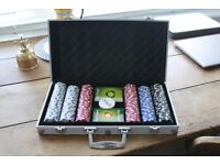 300 Piece Poker Chip Set in Aluminium Case