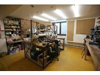 We have two bench spaces to let in our multidisciplinary studio in Islington N1 near Old St & Angel