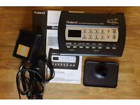 Roland TD3 Electronic Drum Kit Module Brain with Backplate Power Supply & Manual