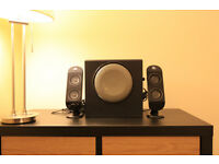 Logitech X-230 2.1 speaker system - multimedia speakers