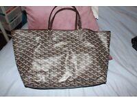 Goyard brown St. Louis bag