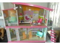 large wooden ELC dolls house.