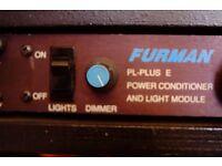Furman PL-PLUS E Power Conditioner and light module !