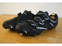 NORTHWAVE BLACK MTB CYCLING SHOES - SIZE 8 / 8.5