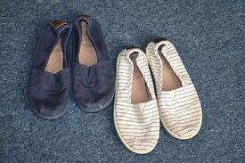 boys next 2 pair shoes - 10 size .