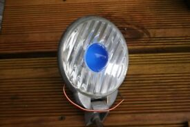 VINTAGE NOTEK NEARLITE FOG LIGHT / LAMP CLASSIC CAR SCOOTER blue spot light