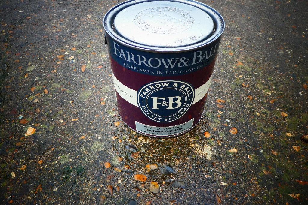 Farrow Ball 5 Litres Purbeck Stone 275 Modern Emulsion Paint