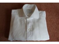 T.M.Lewin Shirt, White, collar size 15""
