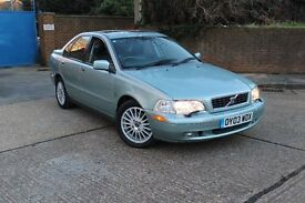 VOLVO S40 AUTOMATIC 2003 03 REG FULL LEATHER SUNROOF