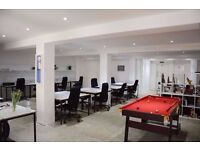 DESK SPACE incl use of EVENT SPACE / PHOTO STUDIO in warehouse Hoxton, Hackney, Shoreditch