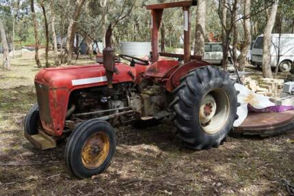 MASSEY FERGUSON TRACTOR and ROTARY HOE