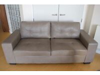 Beautiful Grey Pellissima Leather Sofabed