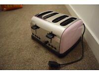 Pink 4 slice toaster