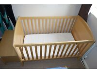 Cot Bed bought from J Lewis plus a matching toy box +