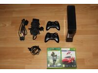 Xbox 360 250GB with controllers and games