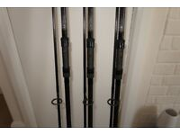 Carp rods x 3 - AS NEW £300