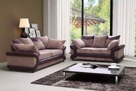 BRAND NEW DINO CORNER SOFA Black & Grey or Brown & Beige LEFT OR RIGHT HAND OPTION AND 3+2 SET