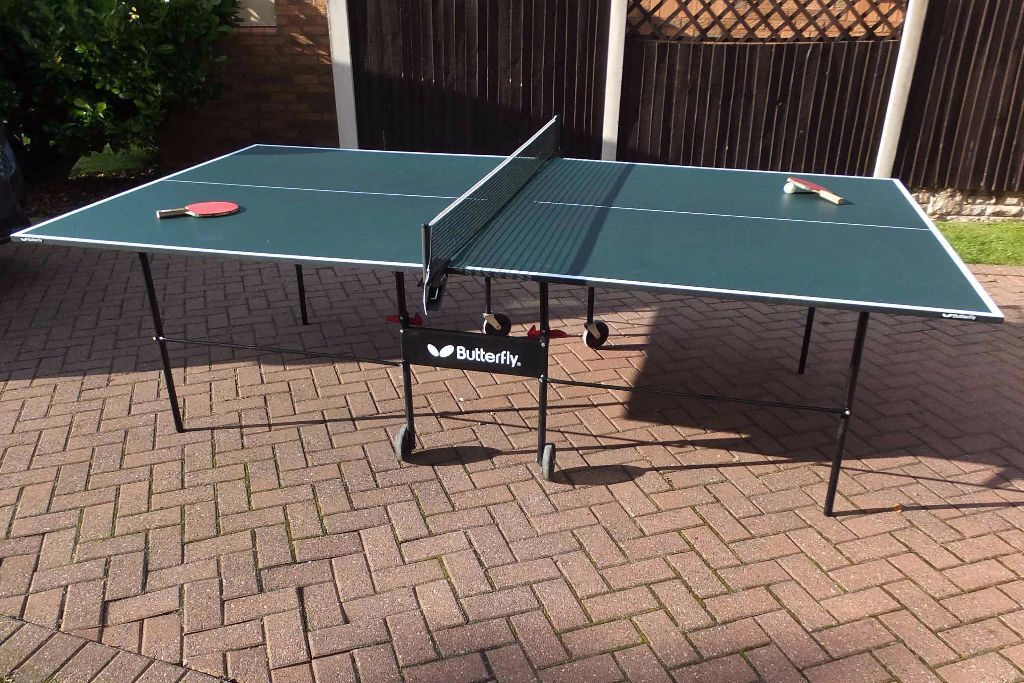 Full size foldaway butterfly table tennis table in good condition with accessories 75 in - Gumtree table tennis table ...