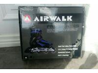 Brand new inline rollerblades blu/blk size 8