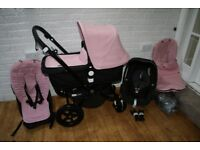 Bugaboo Cameleon Cam 3 pram with car seat 3 in 1 Soft Pink / Black CAN POST