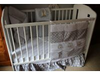White/ grey bedding set (without baby cot)