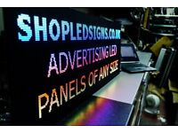 LED SIGN ADVERTISING PANEL FOR SHOP. ADVERTISING VIDEO PANEL