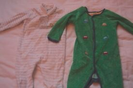 Assorted John Lewis Velour Sleep Suits 3-6 months (buy individually)