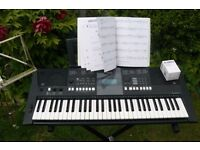 Keyboard 61-key, Yamaha PSR-E423, Music Rest, Keyboard stand, Learner -book, dust-cover,