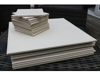 Faux leather Ivory/White/Latte Coloured Indoor Coasters & Placemats (SET OF 24)
