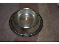 Stainless steel dog bowl, for medium dog