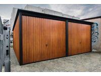 Metal garage 20ftx17ft (6mx5m) in Matt Black + Light Oak (We can do an individual project)