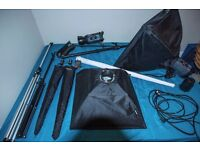 Photography Lighting Studio Set Up - 2 x Bowens gemini gm500 Lights, Various other components