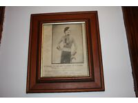 Antique Wartime Magazine In Frame