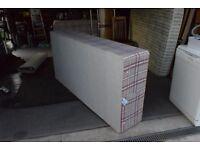 Single divan base and mattress
