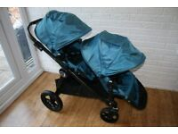 Baby Jogger City Select single / double teal blue pram pushchair - can post-