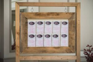 Seating Stand and Selfie Photo station in Rustic