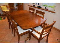 Very good condition Teak/Walnut Extendable Nathan Dining Table and 6 Chairs £200 ono