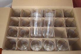 PINT GLASSES BRAND NEW BOX ES