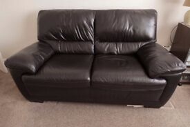 Two Brown Italian Leather Two-Seater Sofa's for sale