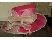 A Jaques Vert Ladies wide brim hat suitable for weddings or special occassions